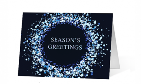 Wonderful Snowflakes Wishes Holiday Greeting Card