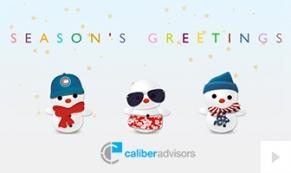 caliber advisors Company Holiday e-card thumbnail