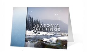 Holiday Moments Christmas corporate holiday greeting card thumbnail