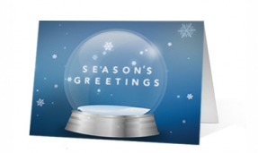 Swirling Wishes Christmas corporate holiday greeting card thumbnail