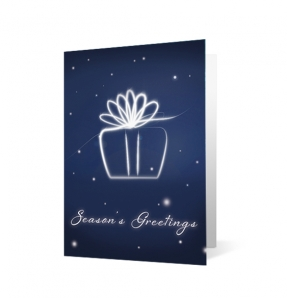 Holiday Flourish Christmas corporate holiday greeting card thumbnail