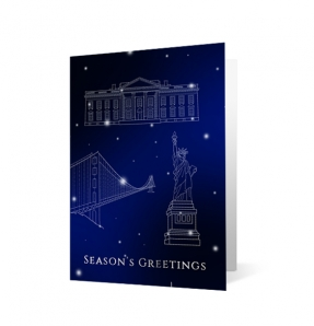 Monuments Christmas corporate holiday greeting card thumbnail
