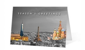 Landmark Colors Christmas corporate holiday greeting card thumbnail