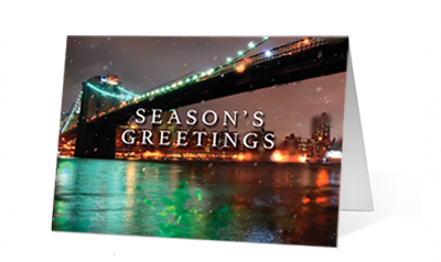 Night Lights Print Christmas Card