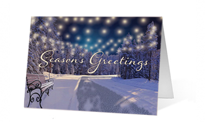 Luminous Print Christmas Card