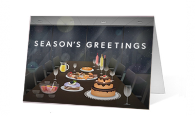 Company Christmas Party Print Card