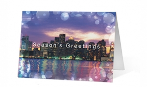 Metropolitan Lights Print Christmas corporate holiday greeting card thumbnail