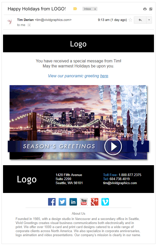 1 city icicles vivid greetings