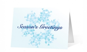 Geometric Greetings corporate holiday greetings card thumbnail