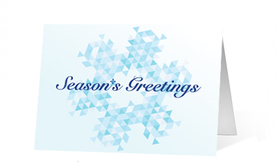 Geometric Greetings Holiday Card