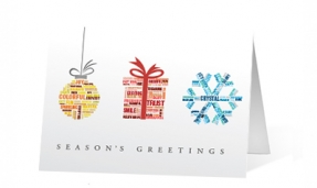 City Snow Globe corporate holiday greetings card thumbnail