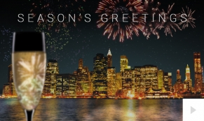 Champagne City Season's Greetings Card