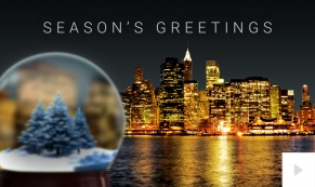 City Snowglobe Holiday ecard thumbnai