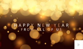 Warm Wishes New Year Gold Ecard