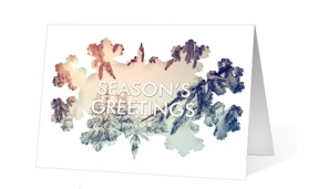 Snowflake Window corporate holiday greetings card thumbnail