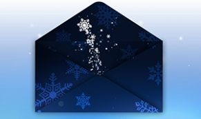 Envelope Evolve corporate holiday ecard thumbnail