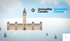 2017 Universities Canada - custom corporate holiday ecard thumbnail