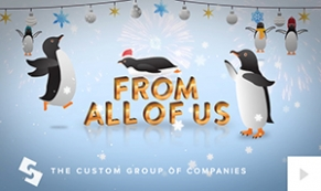 2017 Custom Group - playful penguins corporate holiday ecard thumbnail