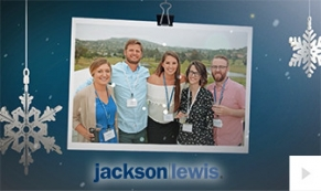 2017 Jackson Lewis - photo ornament corporate holiday ecard thumbnail