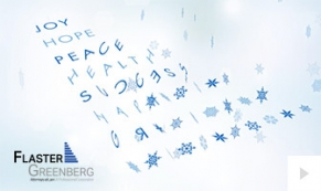 2017 Flaster Greenberg - custom corporate holiday ecard thumbnail