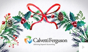 2017 Calvetti Ferguson - Watercolor Wreath corporate holiday ecard thumbnail