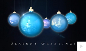 Reflective Impressions-Black BG corporate holiday ecard thumbnail