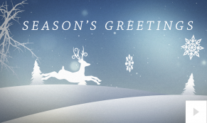 2018 winter reindeer corporate holiday ecard thumbnail