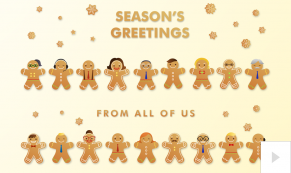 gingerbread men Vivid Greetings video corporate ecards thumbnail
