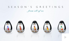 Roly-Poly Penguins corporate holiday ecard thumbnail