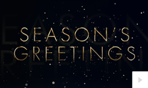 2018 wishes of gold corporate holiday ecard thumbnail