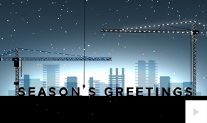 2018 Holiday Construction corporate holiday ecard thumbnail