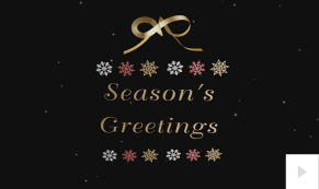 2018 ribbon corporate holiday ecard thumbnail