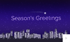 2018 Twinkling City corporate holiday ecard thumbnail