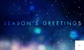 stellar sentiments - blue version corporate holiday ecard thumbnail