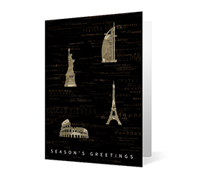 Sparkling Landmarks Print corporate ecards Thumbnail