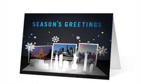 popup wishes corporate holiday greeting card thumbnail