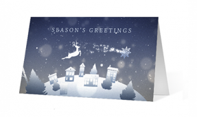reindeer corporate holiday greeting card thumbnail