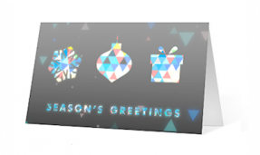 unfolding corporate holiday greeting card thumbnail