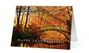 Fall Reveal corporate holiday greeting card thumbnail