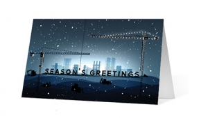Holiday Construction vivid greetings corporate ecards