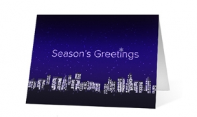 Twinkling Cities vivid greetings corporate ecards