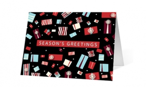 Wishes Aplenty Gift Boxes corporate holiday greeting card thumbnail