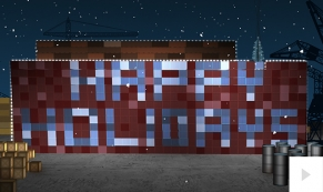 Holiday Shipping containers ecard thumbnail