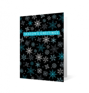 Wishes Aplenty Snowflakes corporate holiday greeting card thumbnail