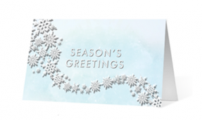 Flourishing Snowflakes Thumbnail Vivid Greetings corporate print ecards