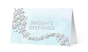 Flourishing Snowflakes Thumbnail Vivid Greetings corporate print ecards