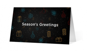 2018 Whimsical Wishes corporate print ecards