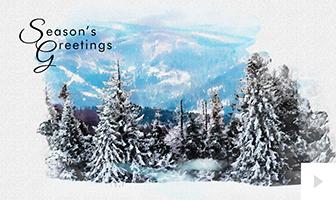 2018 Watercolor iImpressons nature site corporate ecard Vivid Greetings