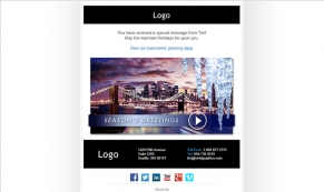 City Icicles Vivid Greetings Email Template