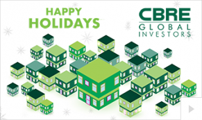 2018 CBRE Clarion - custom corporate holiday ecard thumbnail